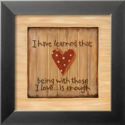 I Have Learned Framed Art Print
