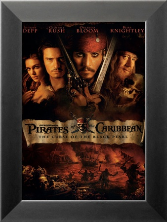 Pirates of the Caribbean: The Curse of the Black Pearl Framed Art Print