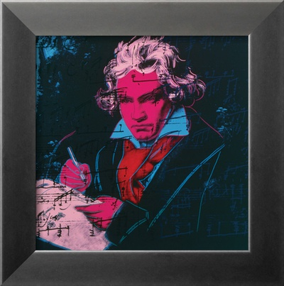 Beethoven, c.1987 (red face) Framed Art Print