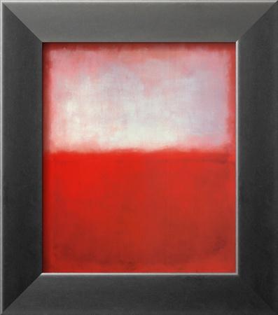 White over Red Stampa di Mark Rothko