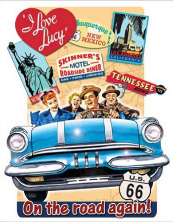 I Love Lucy - On the Road Again TV Tin Sign