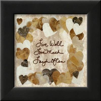 Live Well, Love Much, Laugh Often Framed Art Print