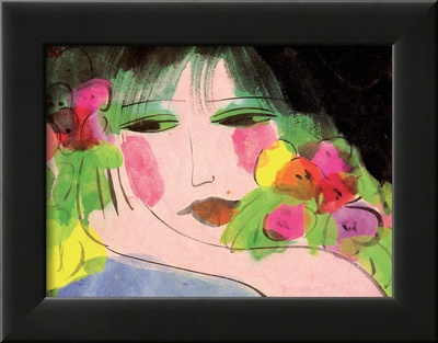 Girl's Face Framed Art Print