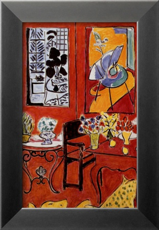 Grand int rieur rouge 1948 affiches par henri matisse sur for Interieur rouge matisse