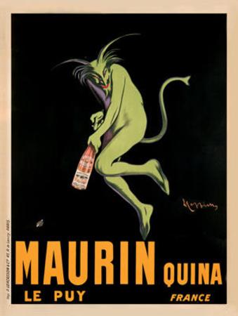 Maurin Quina, c.1920 Art by Leonetto Cappiello