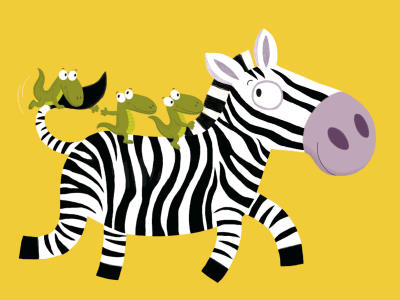 The Zebra Poster by Nathalie Choux