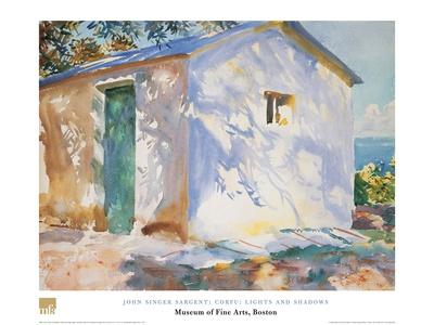 Corfu Lights and Shadows Prints by John Singer Sargent