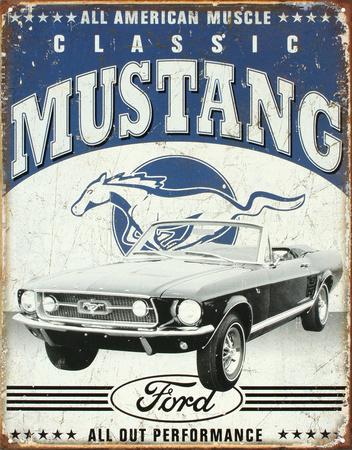 Classic Mustang Plakietka emaliowana
