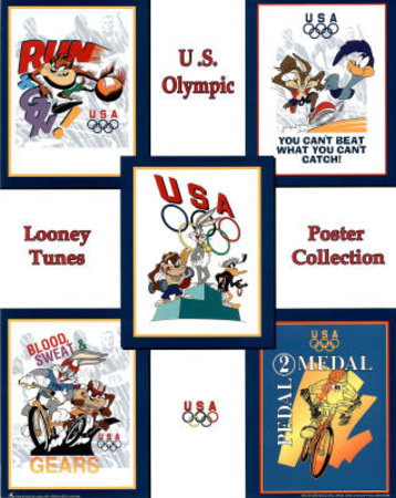 Looney Tunes Olympics Collection 5 Images in One Posters