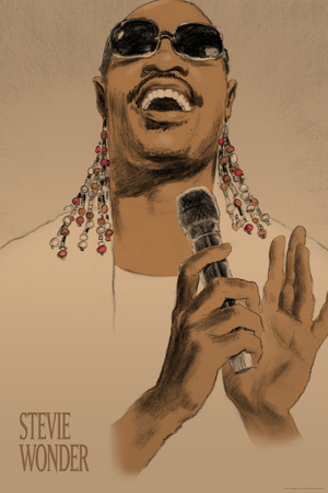 Stevie Wonder Prints by Clifford Faust