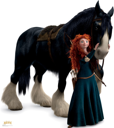 Merida and Angus - Disney / Pixar BRAVE Cardboard Cutouts!