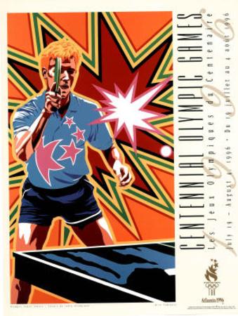 Olympic Table Tennis, c.1996 Atlanta Print by Hiro Yamagata