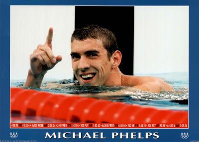 Michael Phelps World Record Olympics Prints