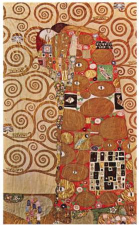 Fulfillment Art by Gustav Klimt