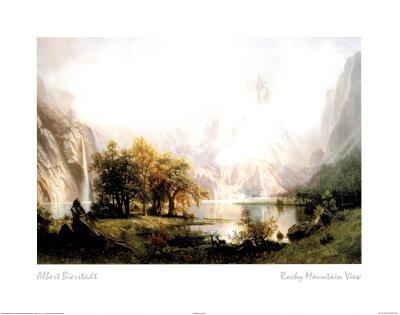 Rocky Mountain View Print by Albert Bierstadt