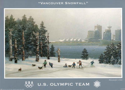 Vancouver Snowfall U.S. Olympic Team Poster