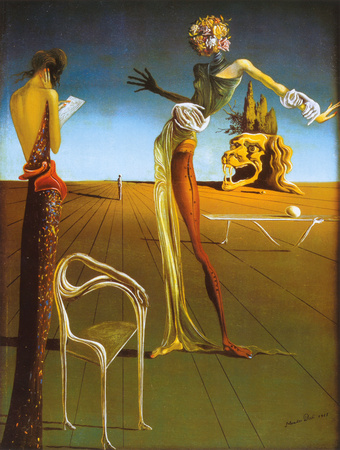 Woman With Head of Roses Art by Salvador Dalí