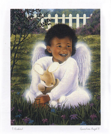 Guardian Angel II Print by T. Richard