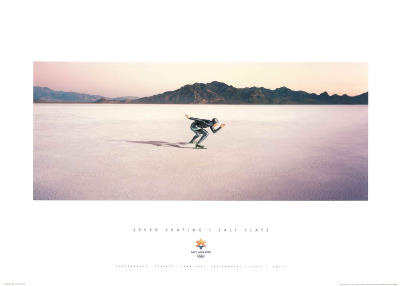 Speed Skating Salt Flats 2002 Salt Lake City Olympics Prints