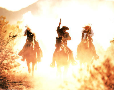 Riding into the Sunset (Cowboys) Print