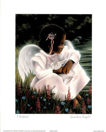 Guardian Angel I Poster by T Richard