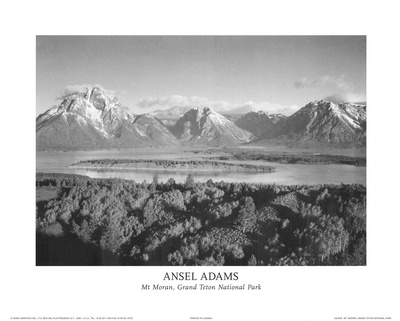 Mt Moran Grand Teton Prints by Ansel Adams