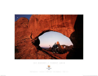 Ice Hockey Turret Arch 2002 Salt Lake City Olympics Posters