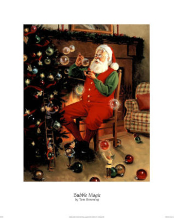 Santa (Decorating Tree) Posters