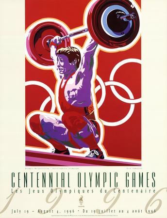Olympic Weightlifting, c.1996 Atlanta Prints by Hiro Yamagata