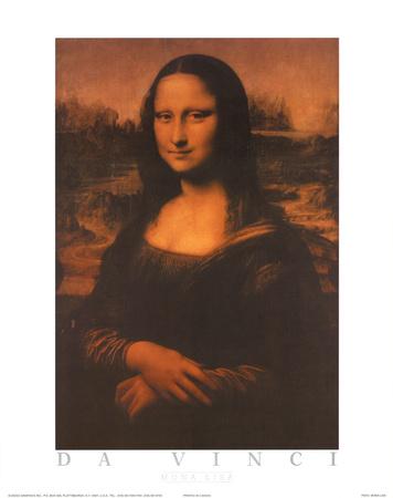 Mona Lisa Text Posters by  Leonardo da Vinci