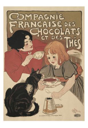 Compagnie Francaise des Chocolats Posters by Théophile Alexandre Steinlen
