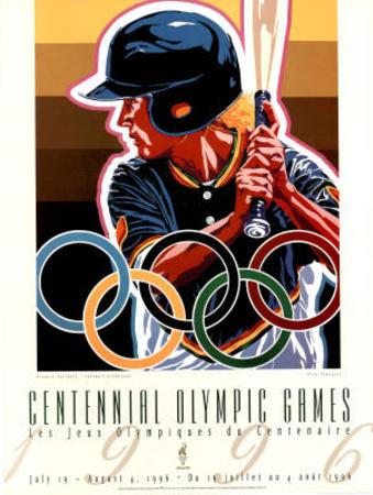 Olympic Softball, c.1996 Atlanta Prints by Hiro Yamagata