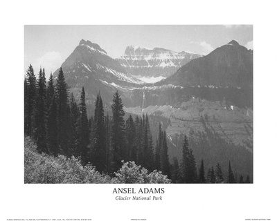 Glacier National Park Photo by Ansel Adams