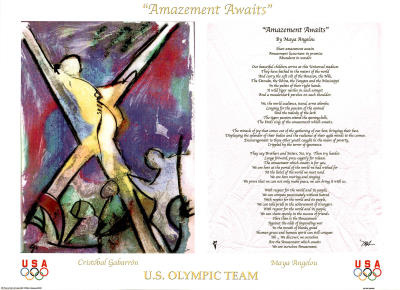 Maya Angelou Amazement Awaits U.S. Olympic Team Prints by Cristobal Gabarron