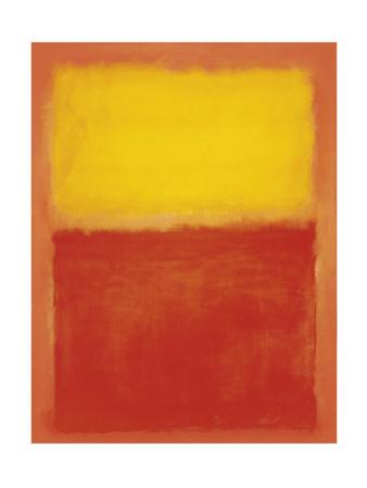 Orange and Yellow Print van Mark Rothko