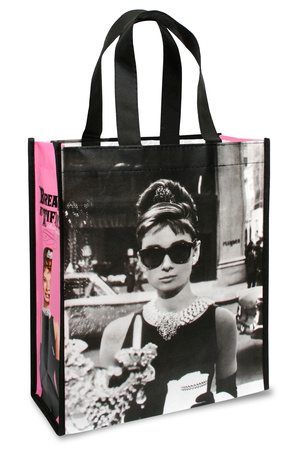 Audrey Hepburn Small Recycled Shopper Sacola