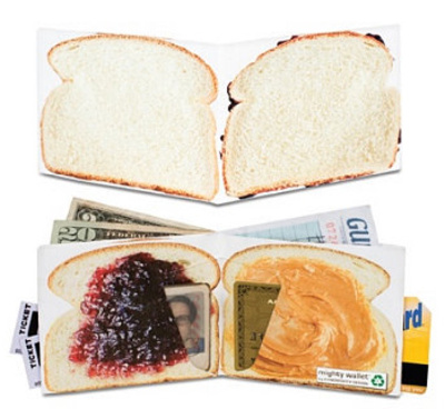 Peanut Butter and Jelly Tyvek Mighty Wallet Portemonnee