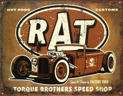 Rat Hot Rods Torque Brothers Speed Shop Plåtskylt
