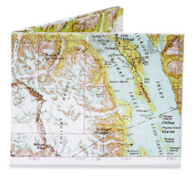 Explorer Map Tyvek Mighty Wallet Portemonnee