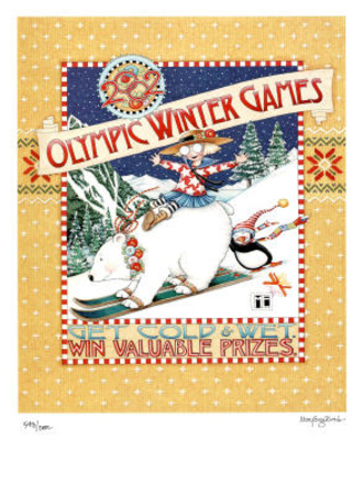 2002 Winter Olympics Get Cold & Wet Salt Lake City Posters