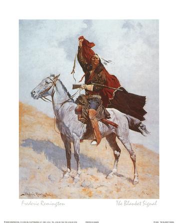 The Blanket Signal Prints by Frederic Sackrider Remington
