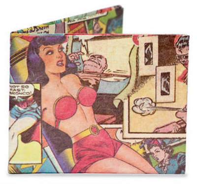 Comic Book Tyvek Mighty Wallet Portemonnee