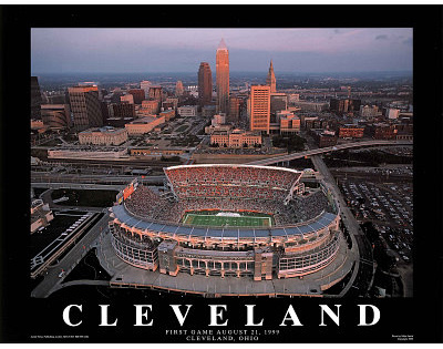 Cleveland Browns First Game August 21, c.1999 Sports Prints by Mike Smith