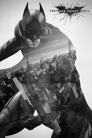 The Dark Knight Rises-City Silhouette Affiche