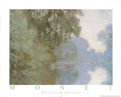 Reflexion Matinee Posters by Claude Monet