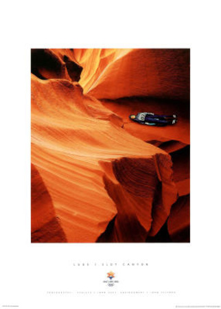 Luge Slot Canyon 2002 Salt Lake City Olympics Posters