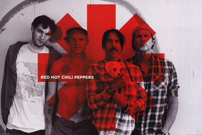 Red Hot Chili peppers – Red Asterix        Affiche