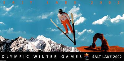 Salt Lake City 2002 Olympics Ski Jumper Prints