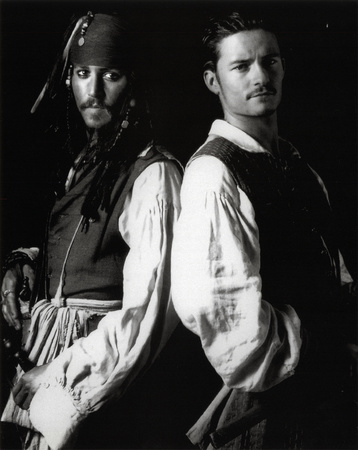Pirates of Caribbean GLOSSY PICTURE POSTER Depp Bloom Photo