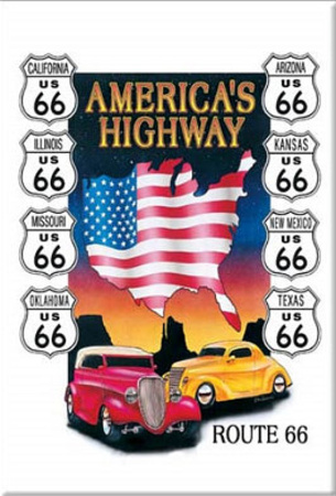 Route 66 Americas Highway Road Magnet Imán